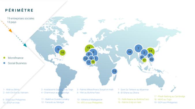 Carte pays partenaires